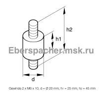 Резинометаллический амортизатор | Артикул: 201609050004