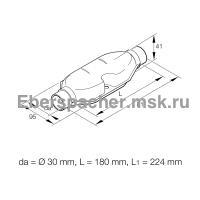 Глушитель выхлопной системы отопителя D9W/Г10 | Артикул: 251806800100