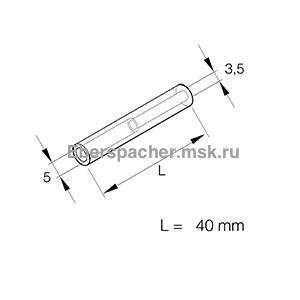 251888800102 Шланг топливный длиной 40мм переходной с 5мм на 3,5мм внутреннего диаметра