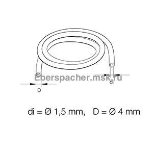 Топливная трубка (прозрачная) (внутр.1,25мм, наруж.4мм), 89031118