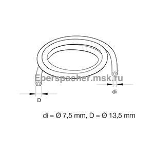 36075402  Шланг топливный резиновый  7,5x2,5 DIN 73379