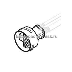 251766650200 Корпус штекерного разъеиа с контактами