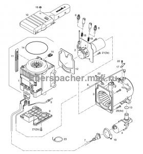 графический каталог запчастей для HYDRONIC M-II M10 24V