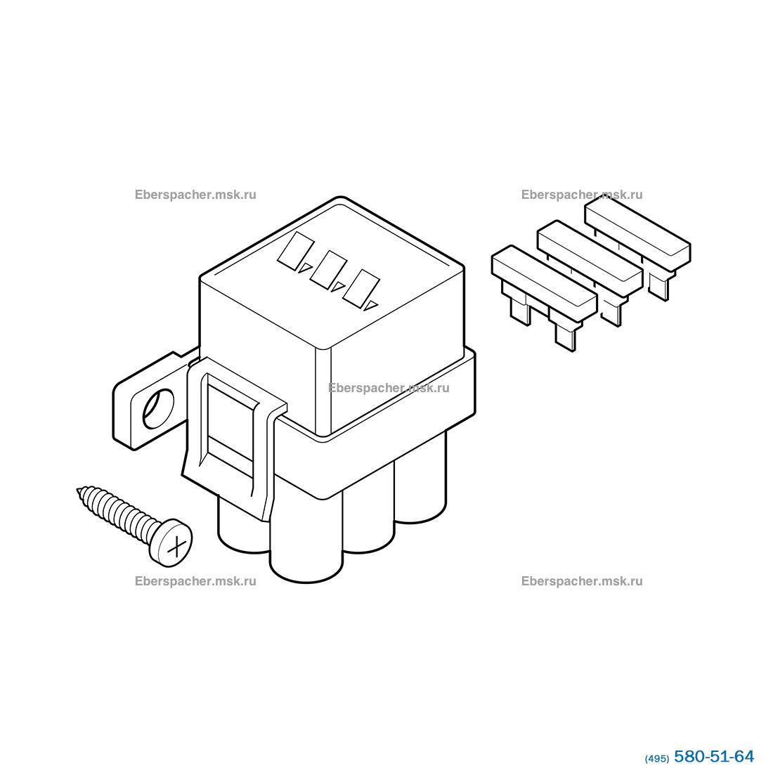 Блок из трех плавких предохарнителей 5А, 15А, 25А, комплект | Артикул: 221000310600